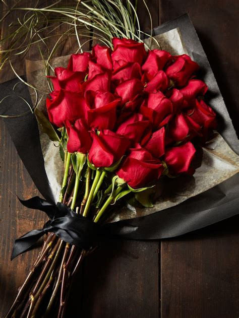 A beautiful bouquet of red roses, Happy Valentine's Day