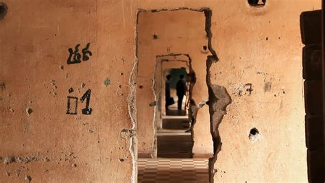 Tourists in Tuol Sleng Genocide Stock Footage Video (100%