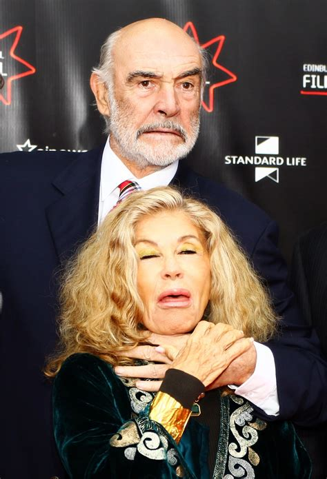 only choking   Sean Connery, er, throttling his wife