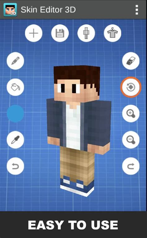 Skin Editor 3D for Minecraft APK Download - Free Tools APP