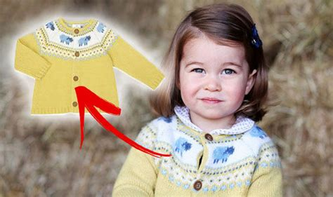 Princess Charlotte poses in BUDGET cardigan from John