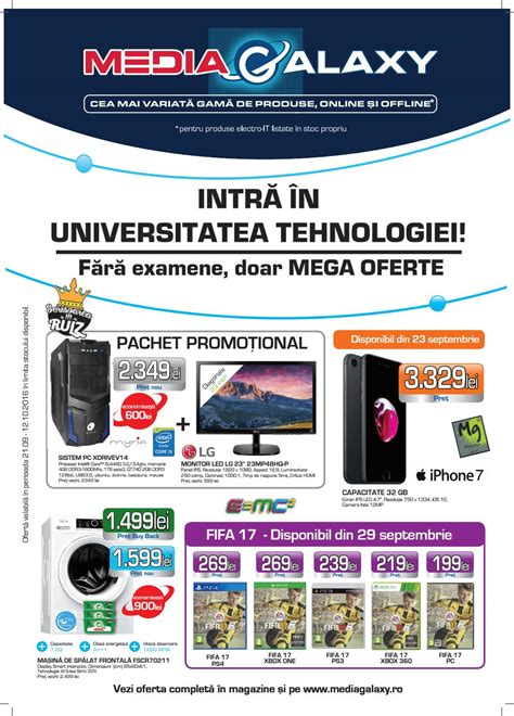 Catalog Media Galaxy 21 Septembrie - 12 Octombrie 2016